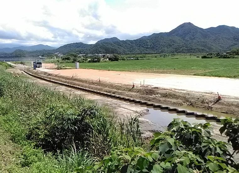 大和建設株式会社 令和2年 蒲生川河川改修(2工区)